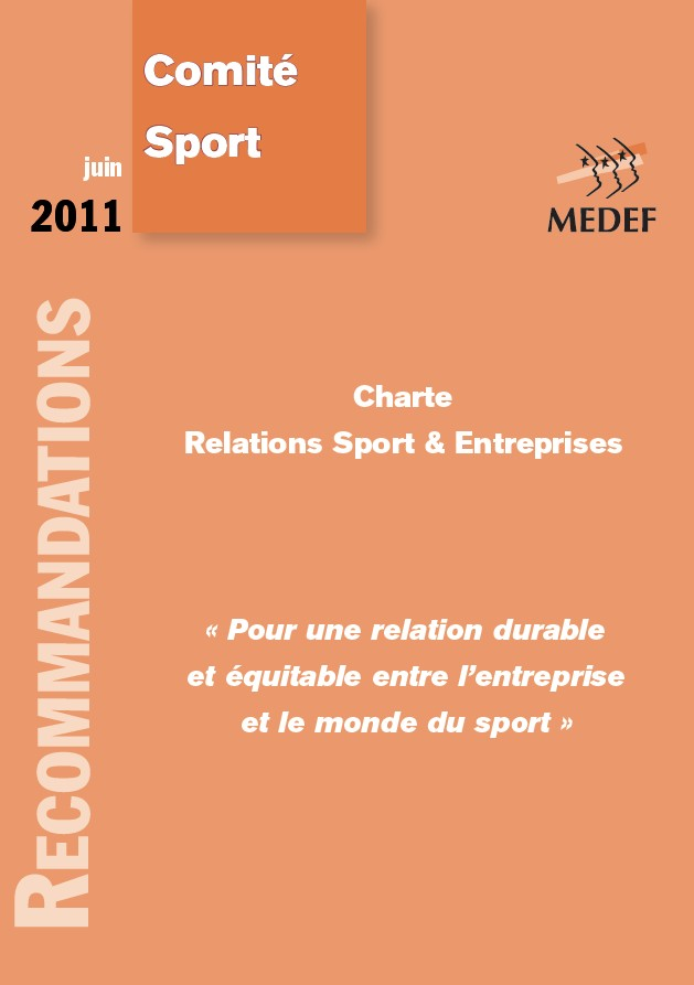 cover Charte Relations Sport et Entreprises