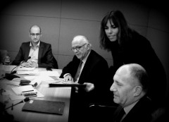 Thierry Courtaigne (au centre), vice-président et directeur général de MEDEF International