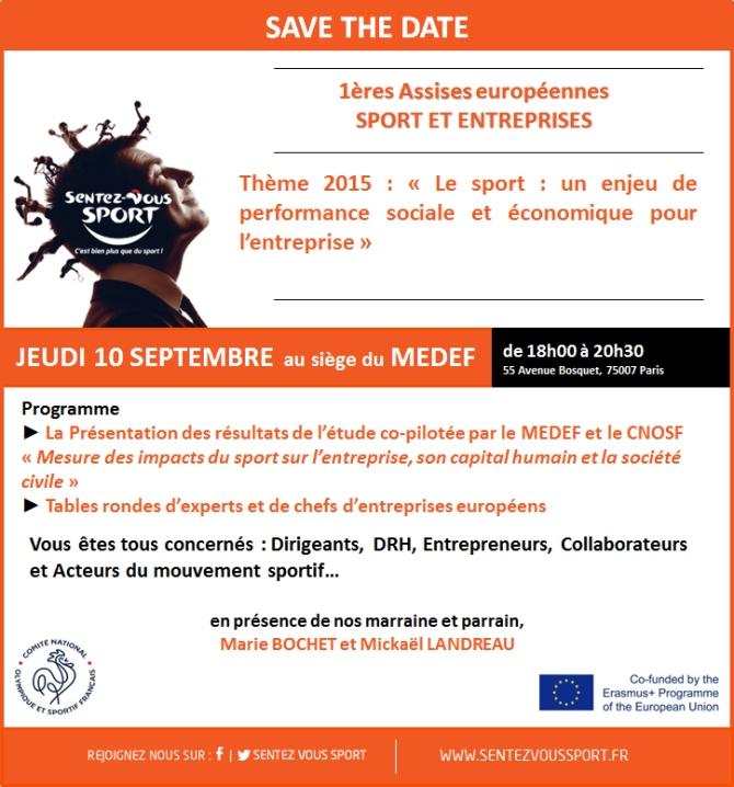 1ères Assises européennes Sport et entreprises