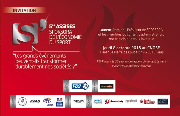 Invitation 5èmes Assises Sporsora